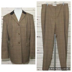 Vintage Judith Hart Brown Plaid Pant Suit